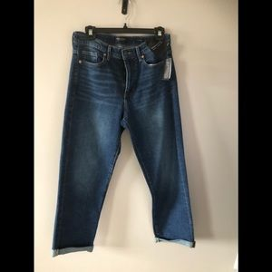 Mid rise/straight / ankle denim jeans